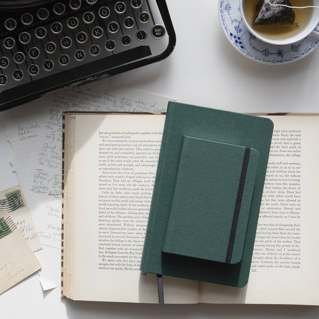 Shinola Large Green Hard Linen Journal