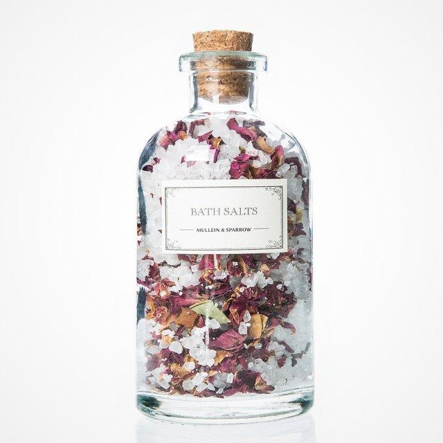 Mini Rose Bath Salts by Mullein & Sparrow