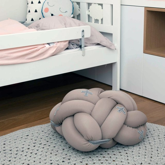 Kids Beige Knot Cushion