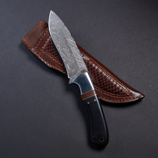 Handmade Micarta Hunter Knife