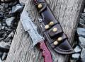 Handmade Damascus Tanto Tracker Knife