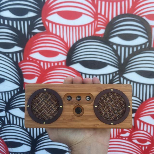 West Neck Bongo Bamboo Wood Speaker