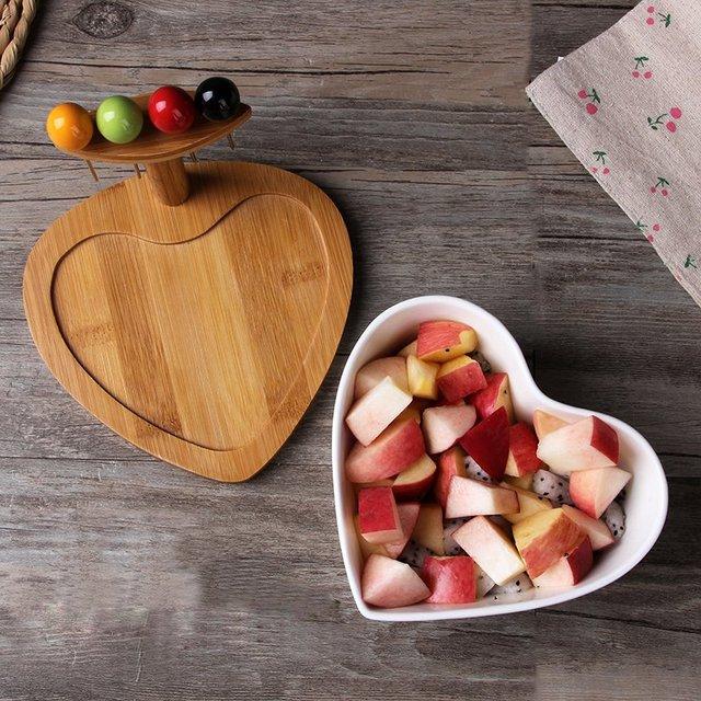 Ceramic Heart Shaped Salad Bowl
