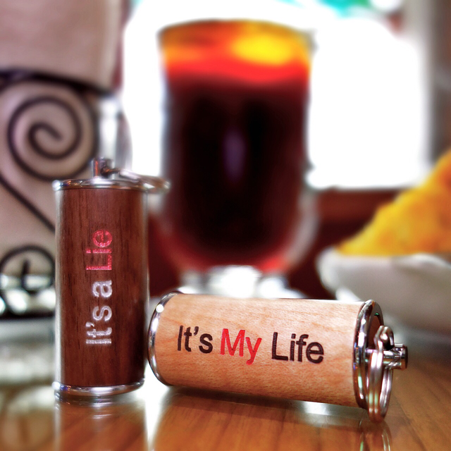 Life or Lie Wooden USB Flash Drive Pair