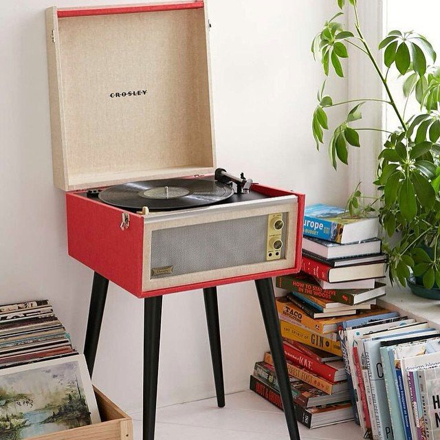 Crosley Red Dansette Bermuda Turntable