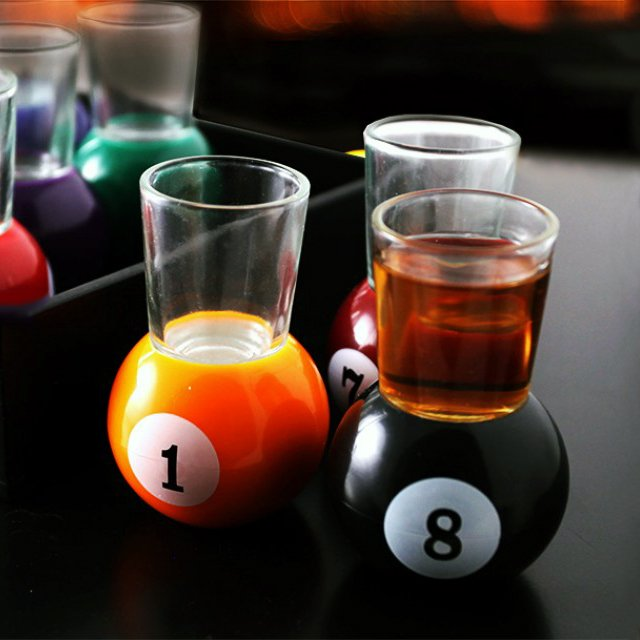 Billiard Ball Shot Glasses