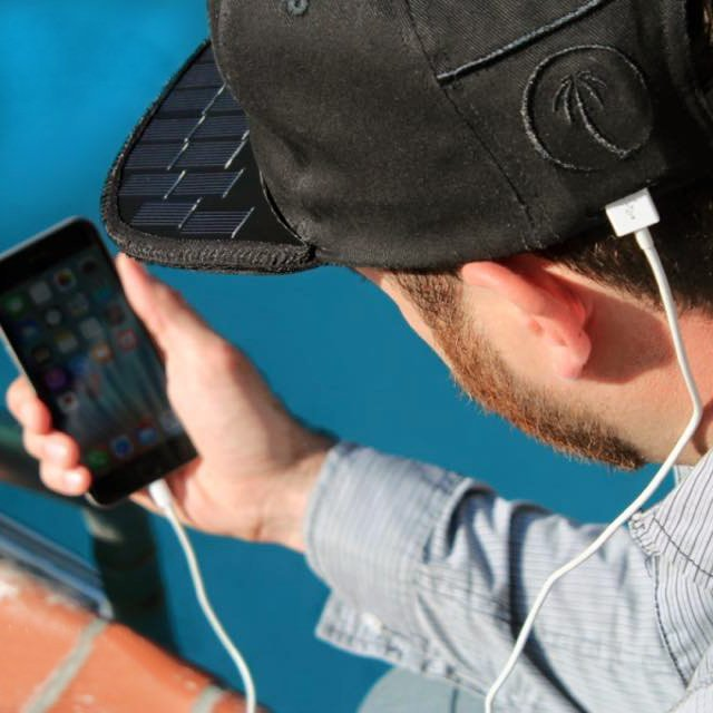 Solar Hat iPhone Charger by SOLSOL