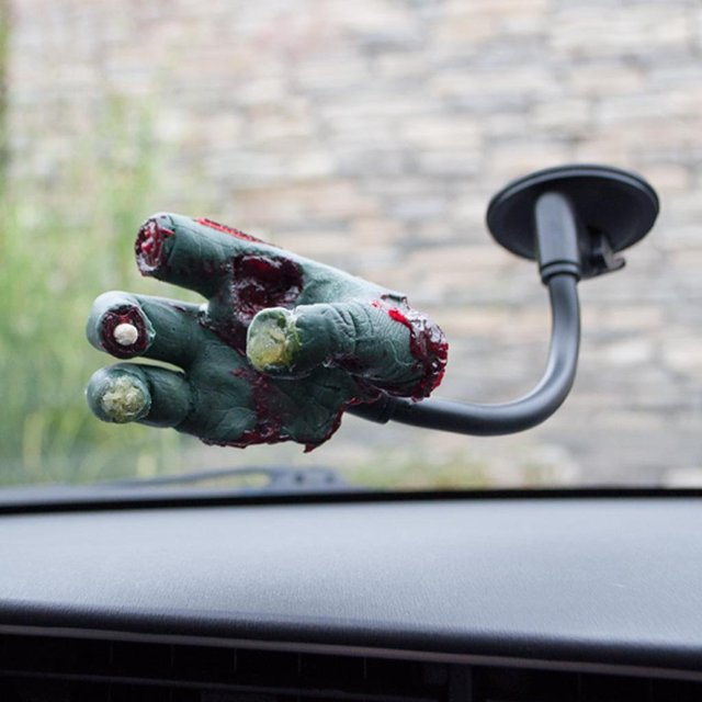 Severed Zombie Hand Suction Cup Mount