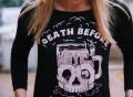 Death Before Decaf Raglan Sweatshirt