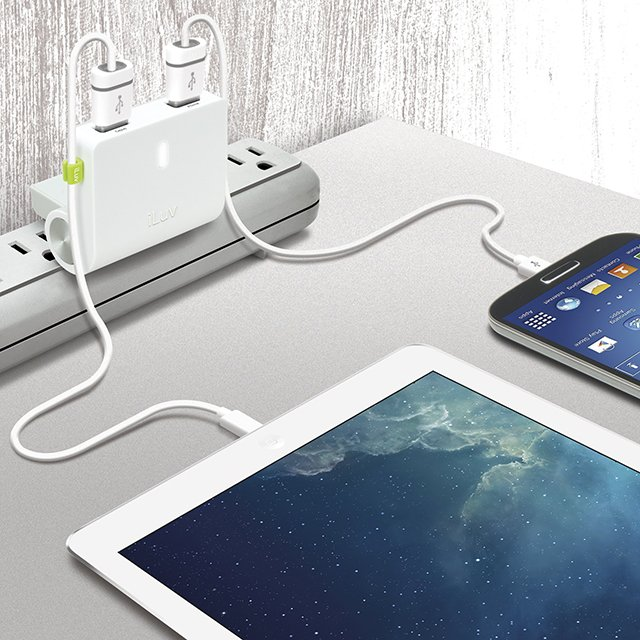 RockWall Dual USB Wall Charger by iLuv