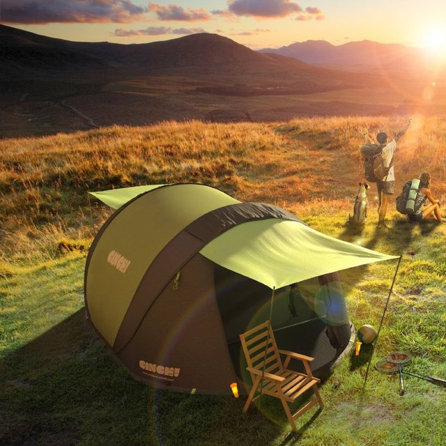 Cinch Pop-Up Solar Tent