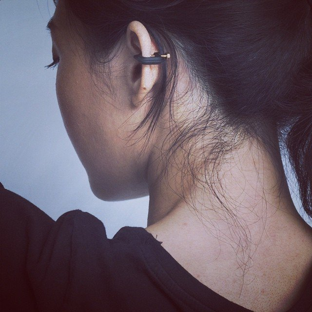Clamp Earring by Drilling Lab