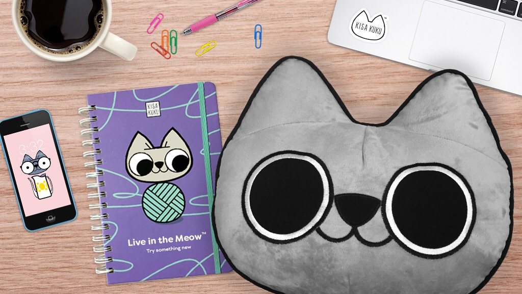 KISA KUKU: Motivational life planner and cat pillow