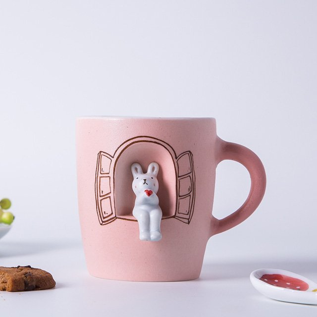 Handmade Rabbit Ceramic Mug