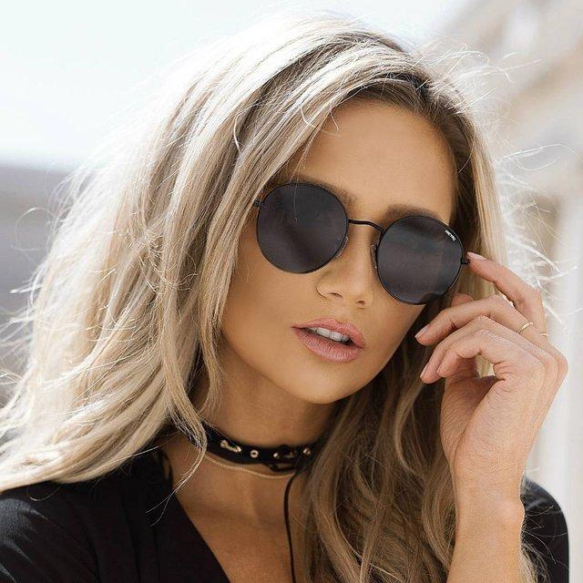 Rocco Round Flat Lens Mens Womens Sunglasses