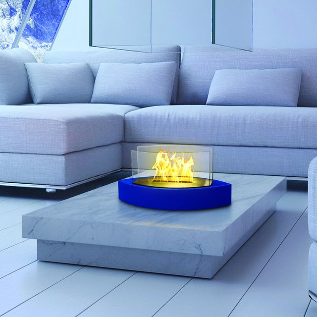 Blue Lexington Tabletop Bio-ethanol Fireplace by Anywhere Fireplace