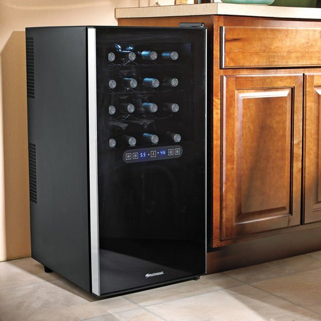 Silent 32 Bottle Dual-Zone Touchscreen Wine Refrigerator