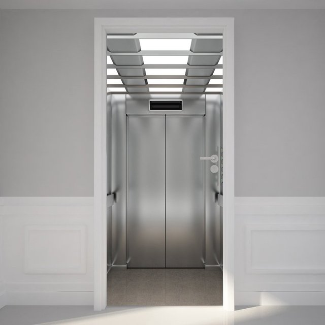 Inside Elevator Door Mural