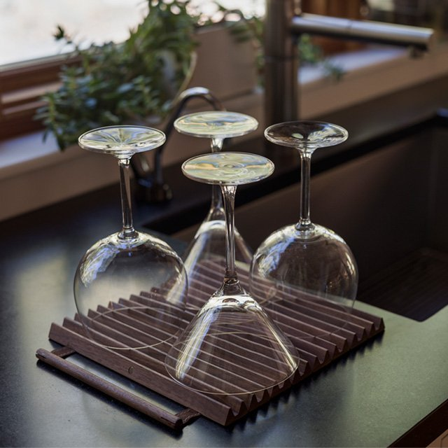 Rolup-Glassware Drying Rack/Trivet