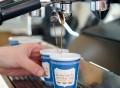 We Are Happy To Serve You Ceramic Espresso Cup