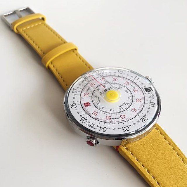 Klokers KLOK-01 Yellow/ Yellow Leather Strap