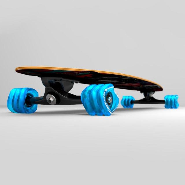 Dakuwaqa Shark Wheel Longboard Pintail Complete