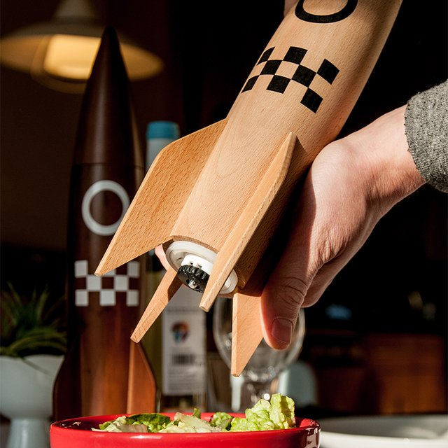 Rocket Salt & Pepper Mill
