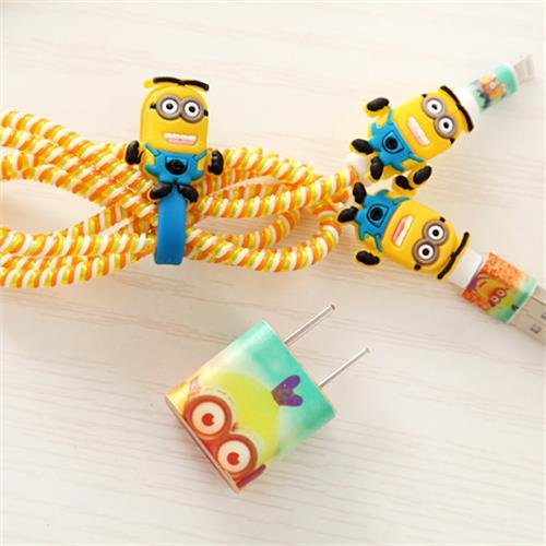 Minions DIY Protectors for  Lightning Cable