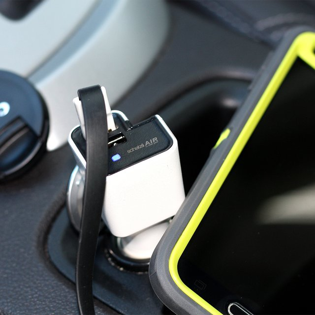 AIR Ionic Car Air Purifier + Dual USB Car Charger by Schatzii
