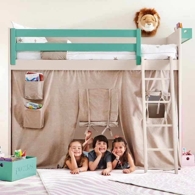 Liso Loft Bed with Teepee Cover