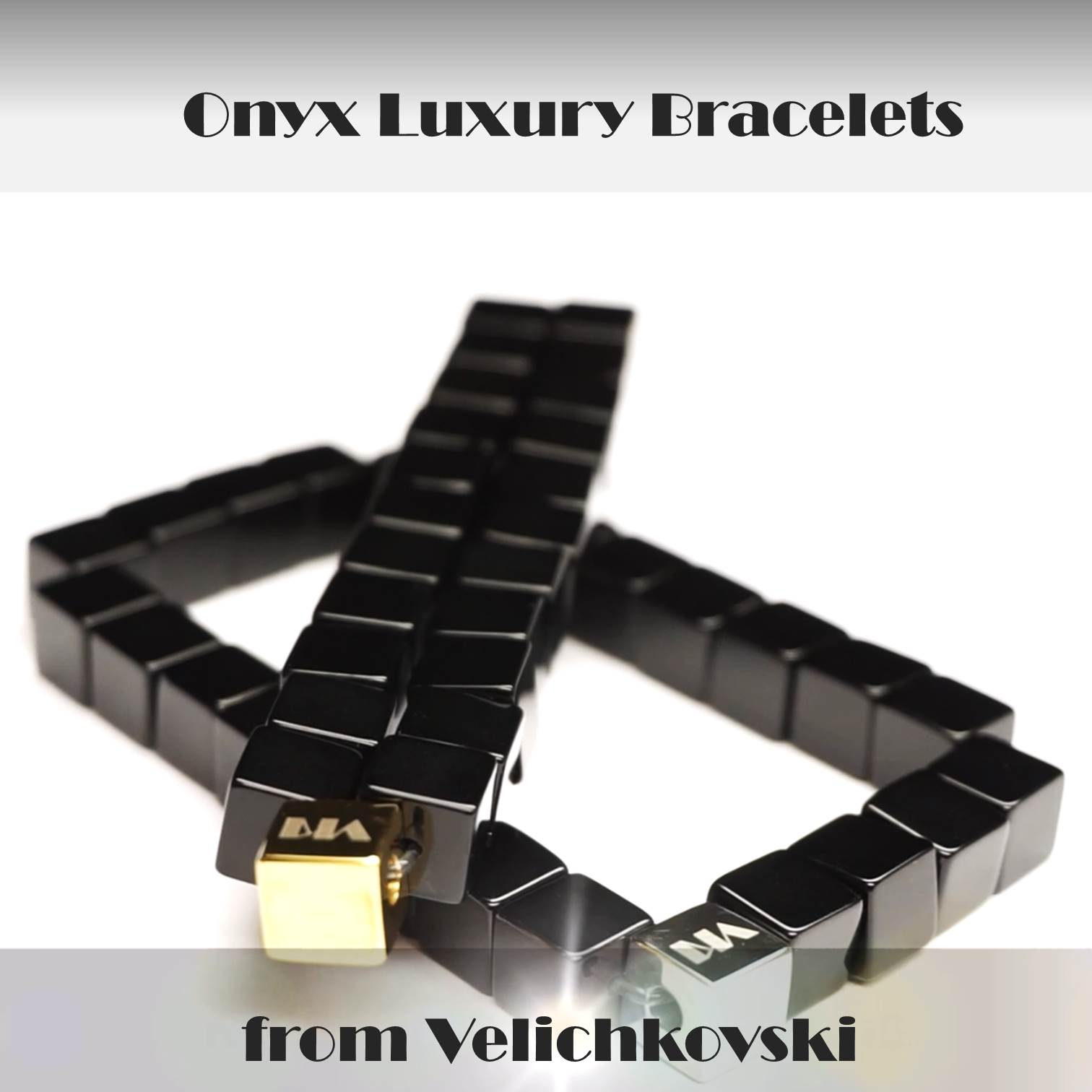 Black Onyx Cube Luxury Bracelets Unique Design