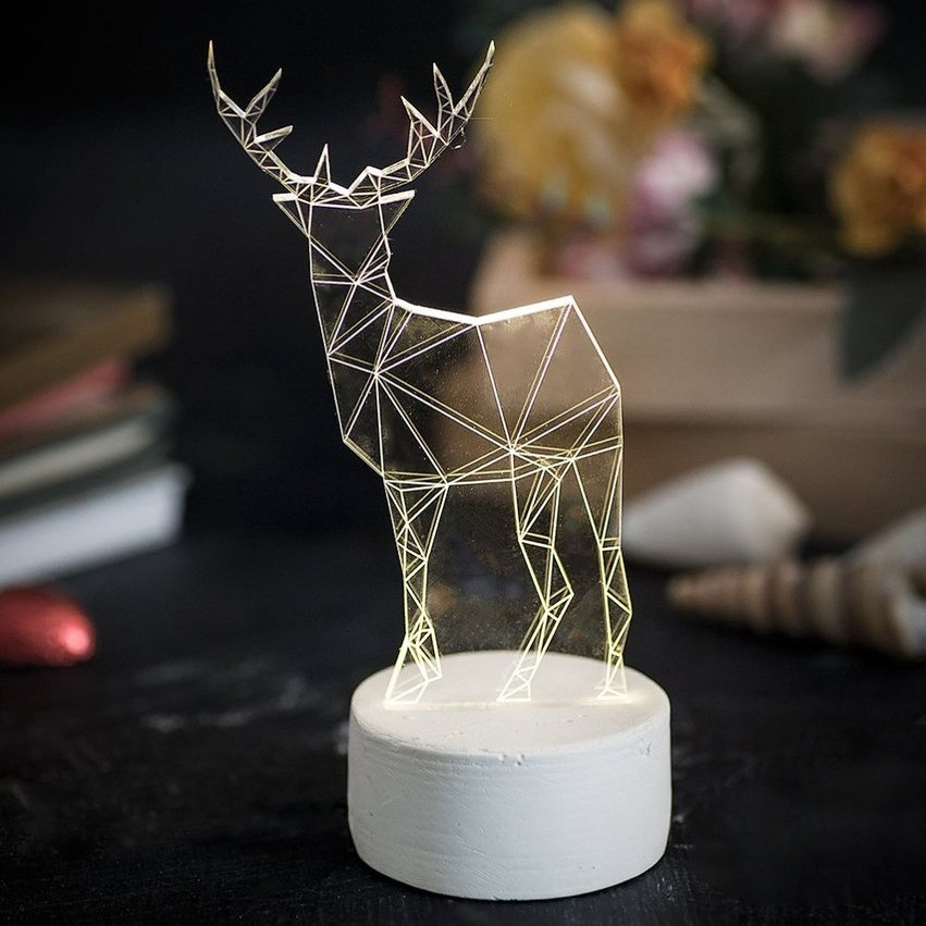Reindeer Lamp by SturlesiDesign
