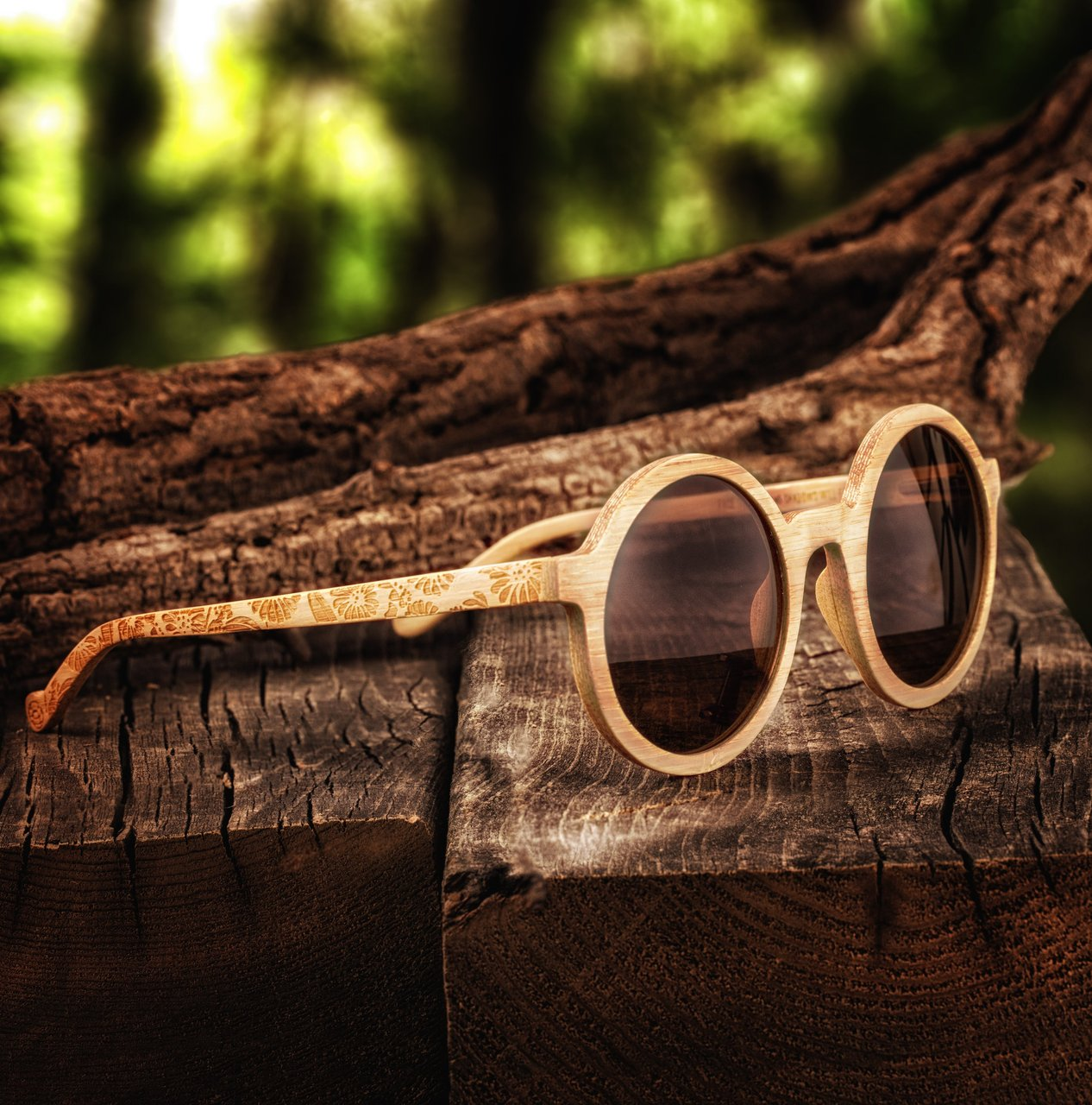 Earth Wood Canary Polarized Sunglasses