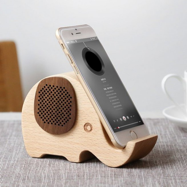 Woodsy Goodsy Bluetooth Speaker & Phone Stand