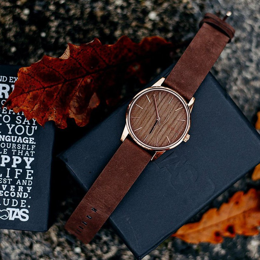 Mary Walnut Wooden Watch by TAKE A SHOT