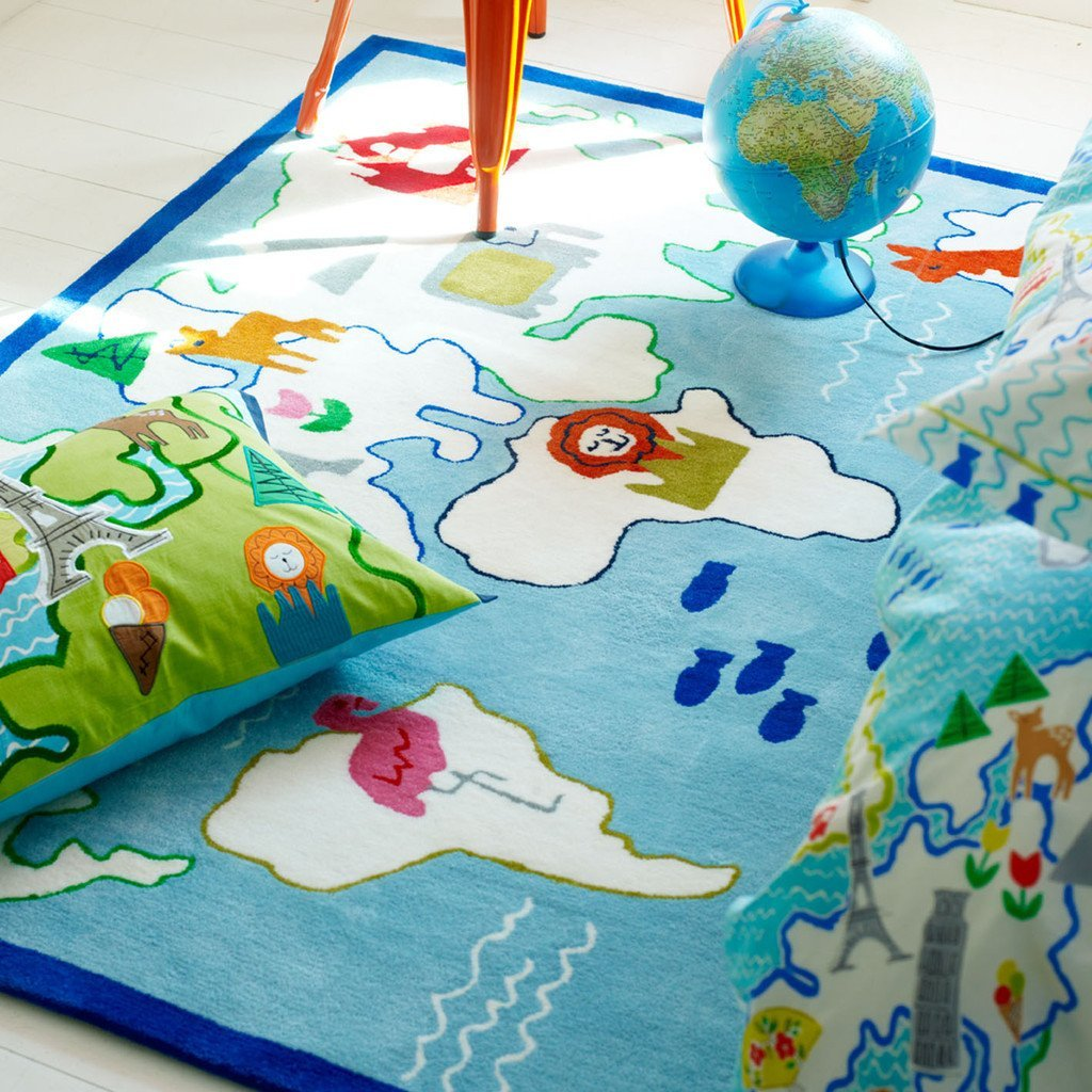 Around The World Kids Rug
