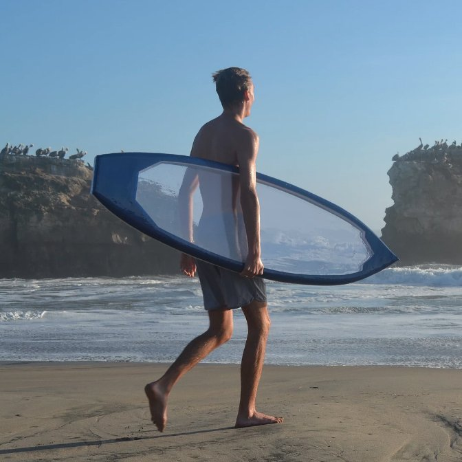 Clear Surfboard