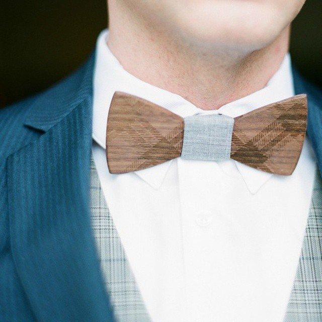 Floyd Wooden Bow Tie by Two Guys Bow Ties
