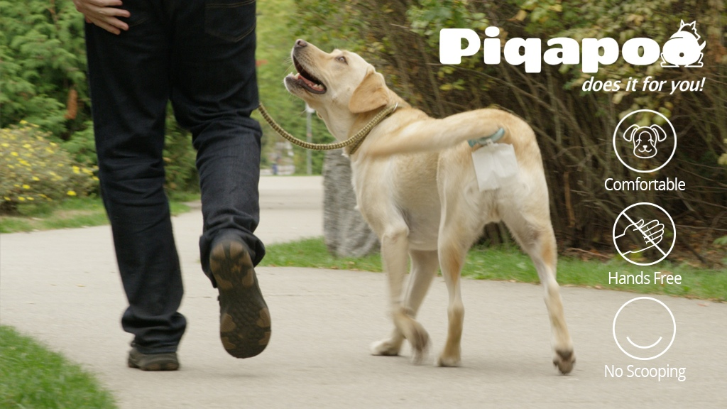 Piqapoo – Collects your dog's poo for you – HANDS-FREE!