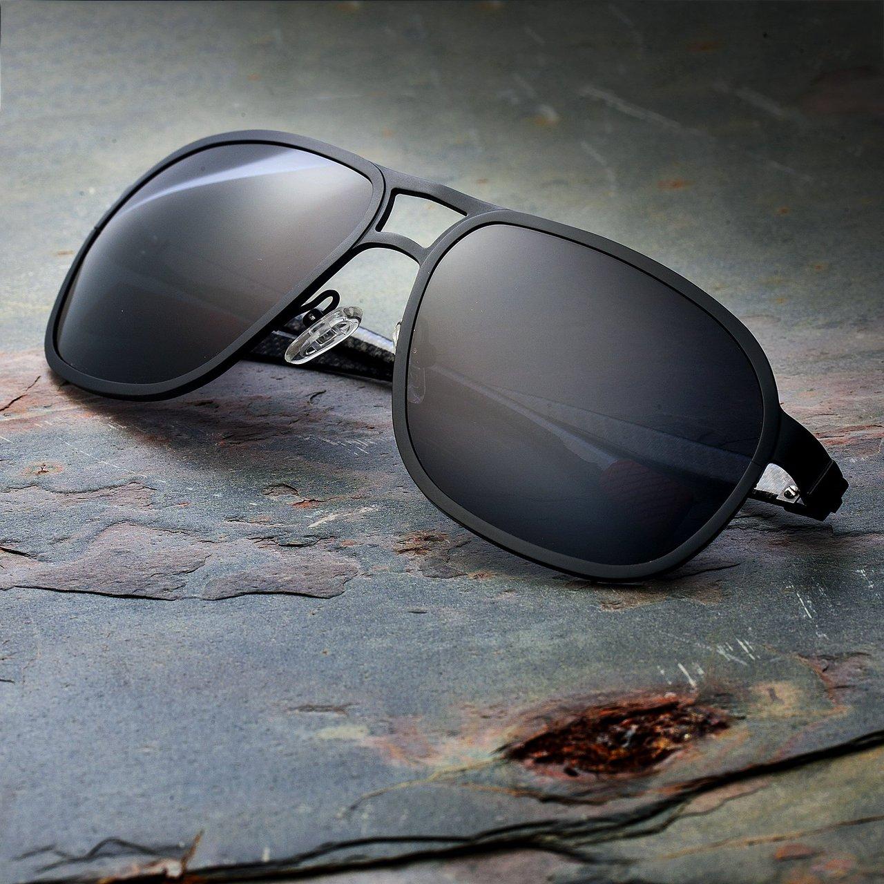 Breed Concorde Black Carbon Fiber Sunglasses