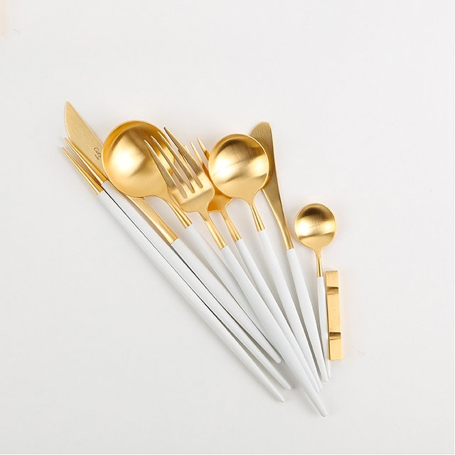 Cutipol Goa Gold White Cutlery