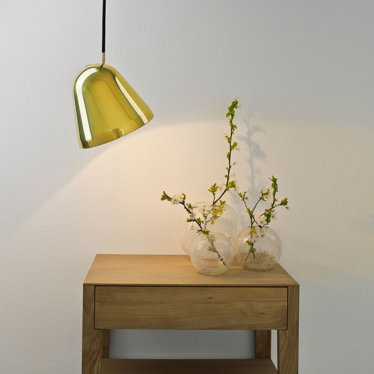 Tilt Brass Small Pendant Light