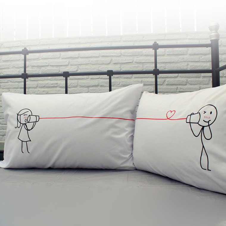 Say I Love You Too Couple Pillowcases
