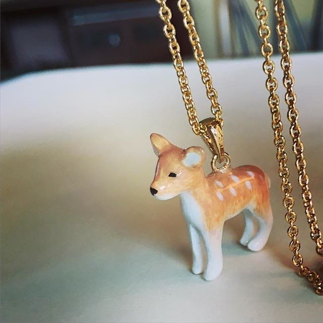 Mary Lou Deer Necklace