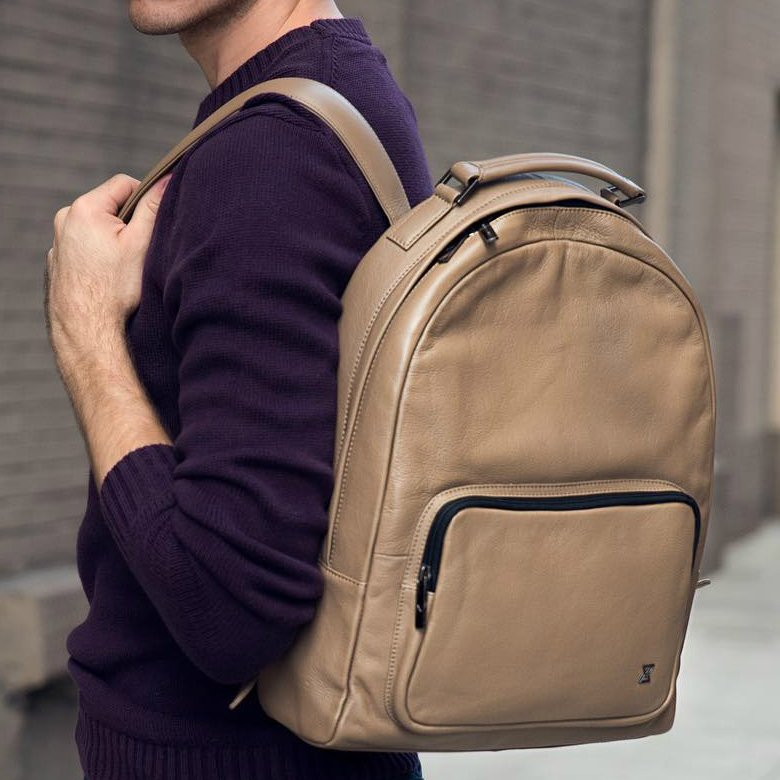 Brown Nut Archer Leather Backpack