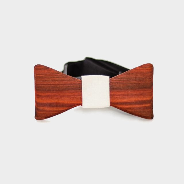 The Slimline Wooden Bow Tie