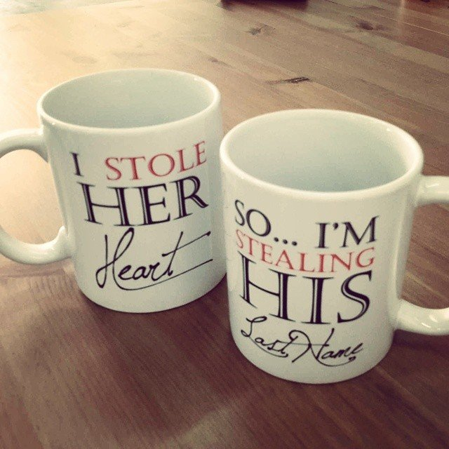 Stealing His Last Name Couple Mugs