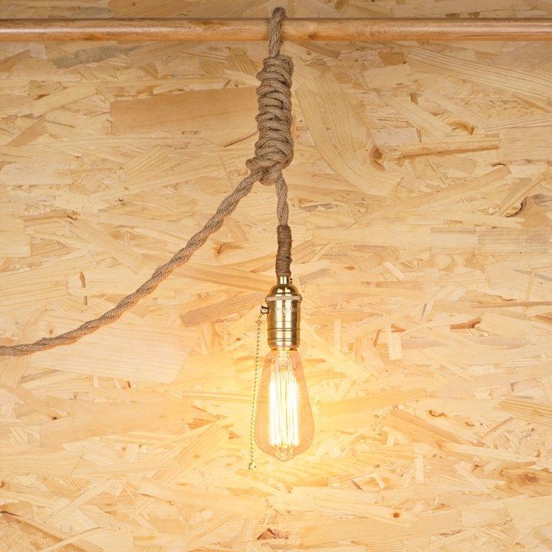Zula Copper Edison Rope Lamp