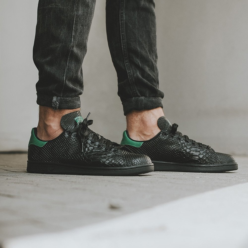 adidas Originals Stan Smith Black Snake Effect Trainers