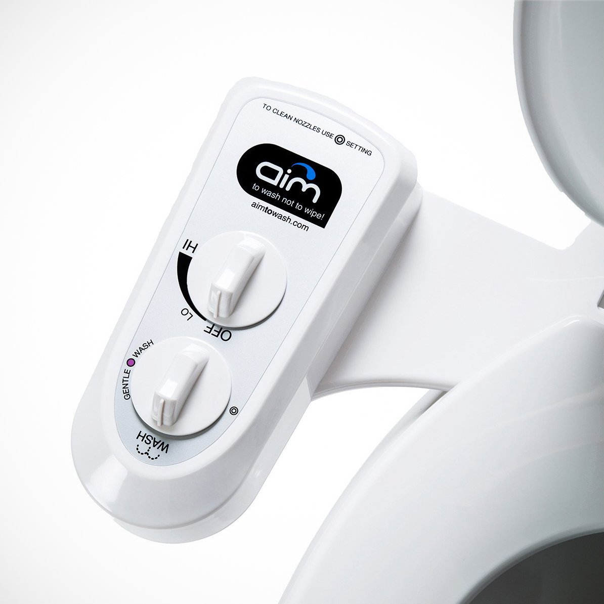 Bidet Attachment with Dual Self Cleaning Nozzles